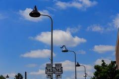 Hershey Czekoladowego buziaka latarnie uliczne Fotografia Stock