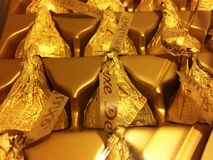 Hershey kysschoklader Arkivfoto
