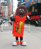 Hershey's chocolate promotion. Hershey advertises reese's chocolate and peanut butter cups in times square Stock Image