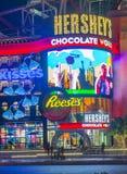 Hershey's Chocolate World. LAS VEGAS - FEB 18 : The Hershey's Chocolate World store in New york-New York hotel in Las Vegas on February 18 , 2015. The 13,000 Royalty Free Stock Photo