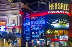 Hershey's Chocolate World. LAS VEGAS - FEB 18 : The Hershey's Chocolate World store in New york-New York hotel in Las Vegas on February 18 , 2015. The 13,000 Stock Photo