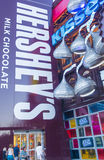 Hershey's Chocolate World. LAS VEGAS - JUNE 17 : The Hershey's Chocolate World store in New york-New York hotel in Las Vegas on June 17, 2014. The 13,000-square Royalty Free Stock Photography