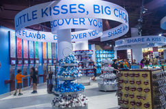 Hershey's Chocolate World. LAS VEGAS - JUNE 17 : The Hershey's Chocolate World store in New york-New York hotel in Las Vegas on June 17, 2014. The 13,000-square Stock Photography