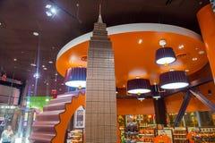 Hershey's Chocolate World. LAS VEGAS - JUNE 17 : The Hershey's Chocolate World store in New york-New York hotel in Las Vegas on June 17, 2014. The 13,000-square Stock Photo