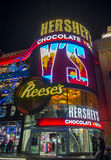 Hershey`s Chocolate World. LAS VEGAS - NOV 24 : The Hershey`s Chocolate World store in New york-New York hotel in Las Vegas on November 24, 2016. The 13,000 Royalty Free Stock Images