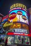 Hershey`s Chocolate World. LAS VEGAS - NOV 24 : The Hershey`s Chocolate World store in New york-New York hotel in Las Vegas on November 24, 2016. The 13,000 Stock Images