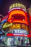 Hershey`s Chocolate World. LAS VEGAS - NOV 24 : The Hershey`s Chocolate World store in New york-New York hotel in Las Vegas on November 24, 2016. The 13,000 Royalty Free Stock Photos