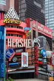 Hershey's. NEW YORK, USA - JULY 3, 2013: Famous Hershey's ad at Times Square in New York. Hershey Company is a chocolate manufacturer founded in 1894. It employs royalty free stock photography