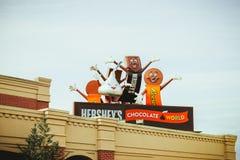 Hershey-` s Schokoladen-Weltsuperspeicher Stockbilder
