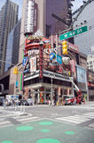 Hershey's Times Square. The 16-story Hershey's Times Square located on Broadway in Times Square, New York City. The the 215-foot-tall, 60-foot-wide store facade Stock Photos