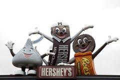 Hershey maskotar Arkivfoto