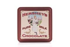 Hersheys Weinlese-Zinn stockbilder