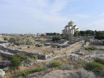 Hersonissos, iglesia fotos de archivo
