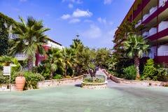 Hersonissos poco centro turístico, Creta Fotografía de archivo