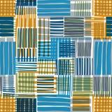 Hersteld lijnen naadloos patroon Stock Afbeeldingen