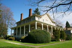 Hersteld oud huis. royalty-vrije stock fotografie