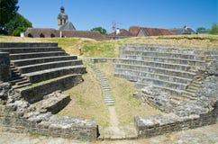 Hersteld riuns van de Franse stad Navarrenx stock afbeelding