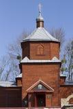 Herstelde houten Orthodoxe kerk van de 19de eeuw Royalty-vrije Stock Afbeelding