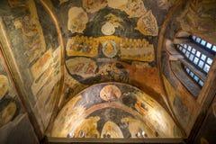 Herstelde Oude Muurschildering bij Chora-Kerk Stock Foto