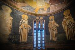 Herstelde Oude Muurschildering bij Chora-Kerk Stock Foto's
