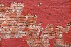 Herstelde Rode Bakstenen muur Royalty-vrije Stock Afbeeldingen