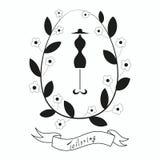 Herstellen des Emblems mit Mannequin oder Attrappe Lizenzfreies Stockbild