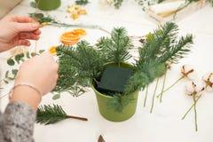 Herstellen einer wunderbaren Zusammensetzungsbaumwolle, Kegel Lizenzfreie Stockfotografie