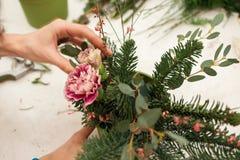 Herstellen einer wunderbaren Zusammensetzungsbaumwolle, Kegel Stockfotografie