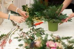 Herstellen einer wunderbaren Zusammensetzungsbaumwolle, Kegel Stockfotos
