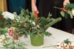 Herstellen einer wunderbaren Zusammensetzungsbaumwolle, Kegel Stockbild
