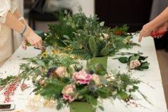 Herstellen einer wunderbaren Zusammensetzungsbaumwolle, Kegel Lizenzfreies Stockbild