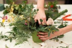 Herstellen einer wunderbaren Zusammensetzungsbaumwolle, Kegel Stockfoto