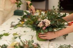 Herstellen einer wunderbaren Zusammensetzungsbaumwolle, Kegel Lizenzfreies Stockfoto