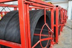 Herstellende Betonplatten Stahlbetonproduktion Lizenzfreie Stockfotos