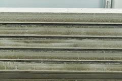 Herstellende Betonplatten Stahlbetonproduktion Stockbild