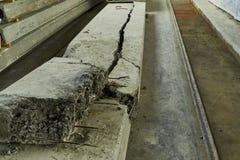 Herstellende Betonplatten Stahlbetonproduktion Lizenzfreies Stockfoto