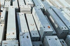 Herstellende Betonplatten Stahlbetonproduktion Lizenzfreies Stockbild