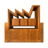 Hersteller-Gebäude - 3d im Holz Stockfoto