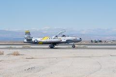 Hersteller Lockheeds T-33 Ace Stockbilder