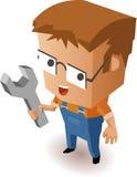 Hersteller voor onderhoud vector illustratie