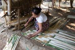 Herstellung der Bambuswand Lizenzfreies Stockfoto