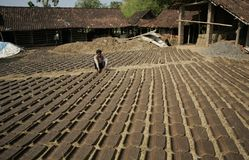 Herstellung der Dachplatte Lizenzfreies Stockfoto