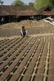 Herstellung der Dachplatte Stockfotografie