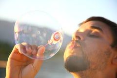 Herstellung der Luftblasen Stockbilder