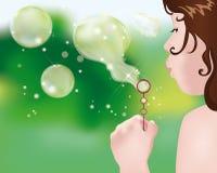 Herstellung der Luftblasen lizenzfreie abbildung