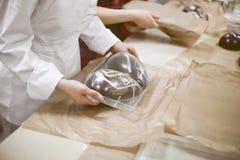 Herstellung der Schokolade Schokoladenfabrik Lizenzfreie Stockbilder