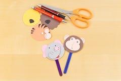 Herstellung der Steuerknüppel-Marionetten stockbild