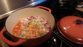Herstellung der Suppe Stockbilder