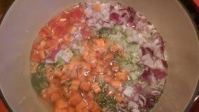 Herstellung der Suppe Stockbild