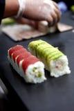 Herstellung der Sushi Stockfoto